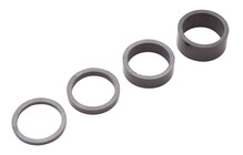 PRO Spacer-Set Spacer carbon, 1 1/8 inch zwart